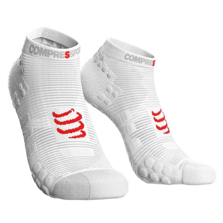 Compressport ProRacing Socks V3 Run Hi - stopki do biegania (biały)